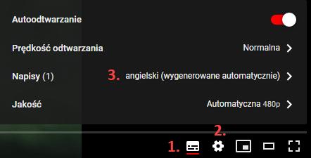 tłumaczenie automatyczne YouTube